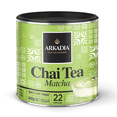 Arkadia Chai Tea Matcha 440g Tin