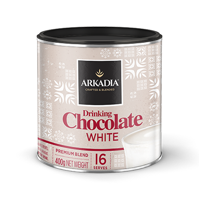 Arkadia White Drinking Chocolate 440g Tin