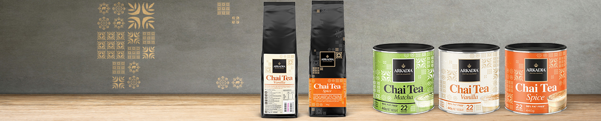 Arkadia Chai Tea Range.