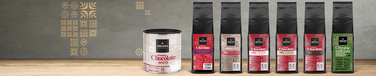 Arkadia Food Service Drinking Chocolate Range.