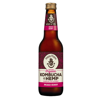Happy Hippie Kombucha + Hemp | Mixed Berry